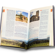 Rich in photographs the guidebook pleases the eye and provides essential information about the terrain and sights along the trail.