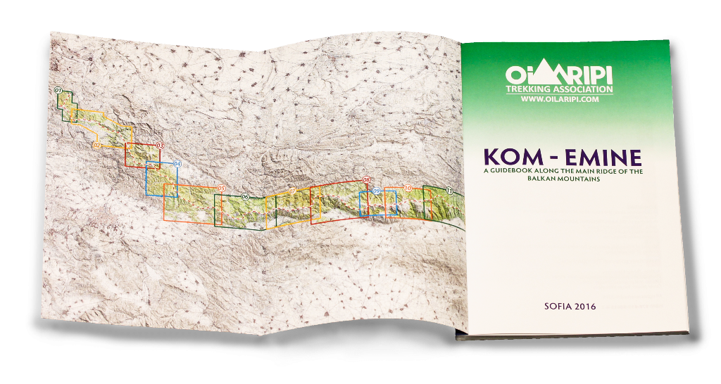 The route is divided into 20 daily stages which are shown on the inside cover